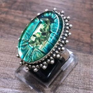 Jewelry - Witch's Glass Sterling Silver 925 Statement Ring 8